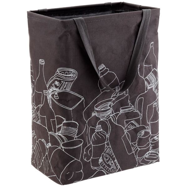 Umbra Charcoal Recycle Crunch Can with Handles