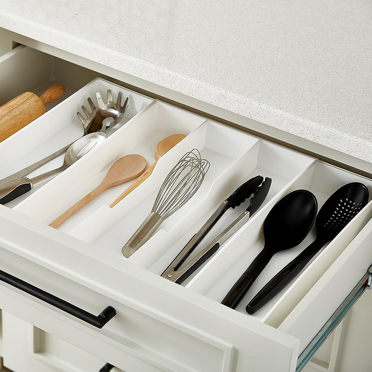 Drawer organizers utensil holders silverware trays the expand a drawer utensil trays workwithnaturefo