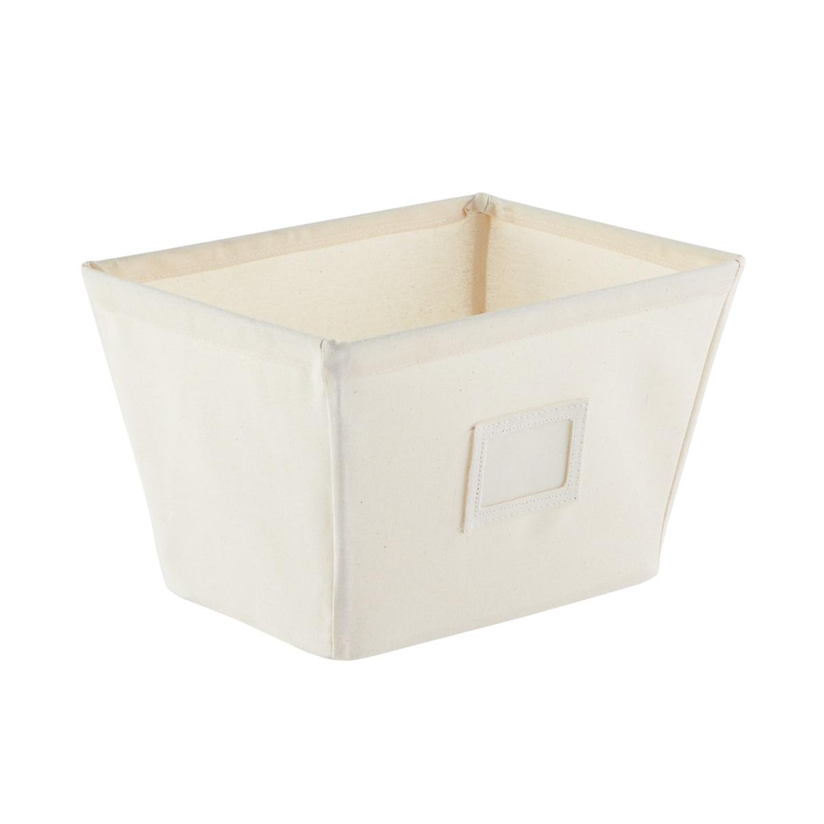 fabric storage bins natural open canvas storage bins