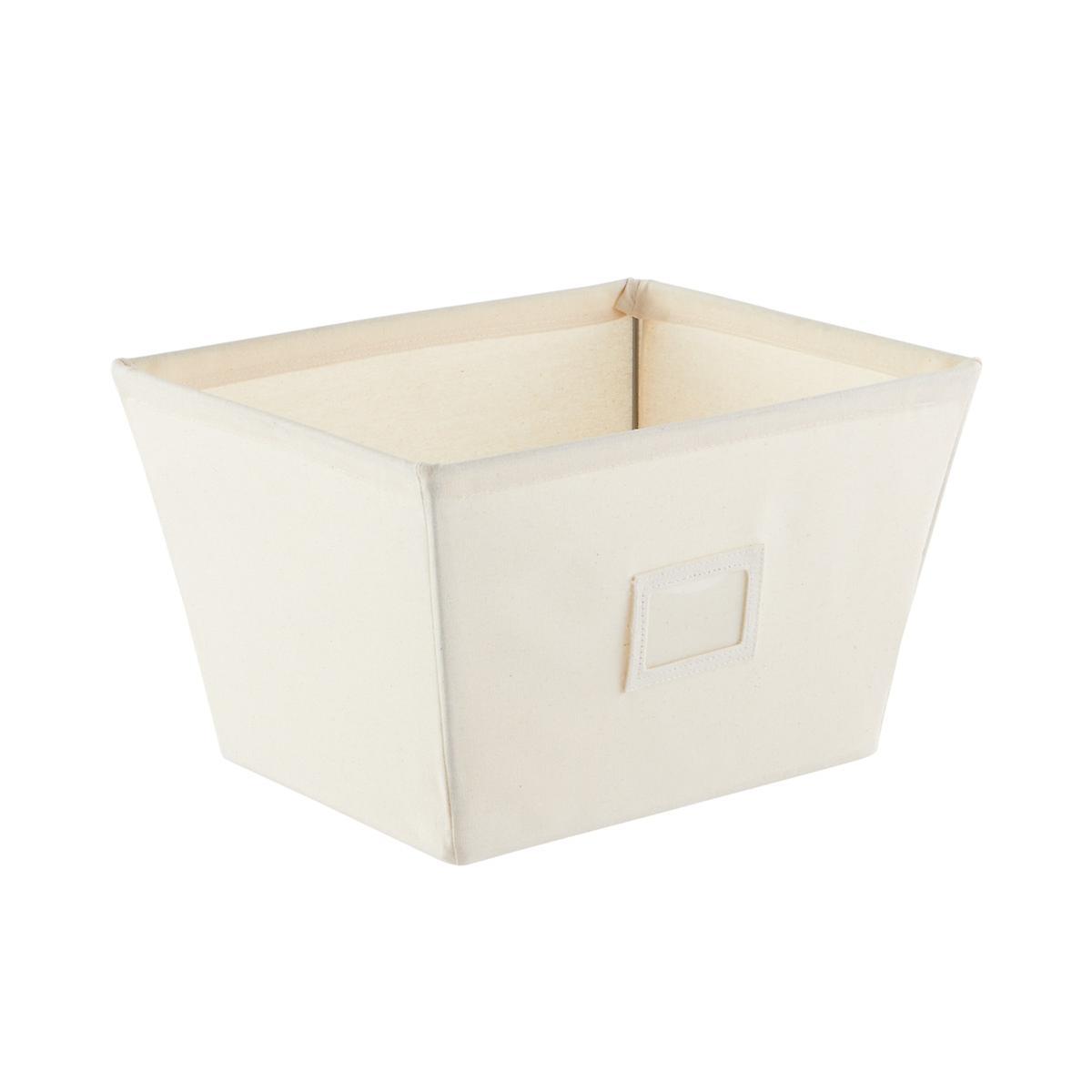 Fabric Storage Bins Natural Open Canvas Storage Bins