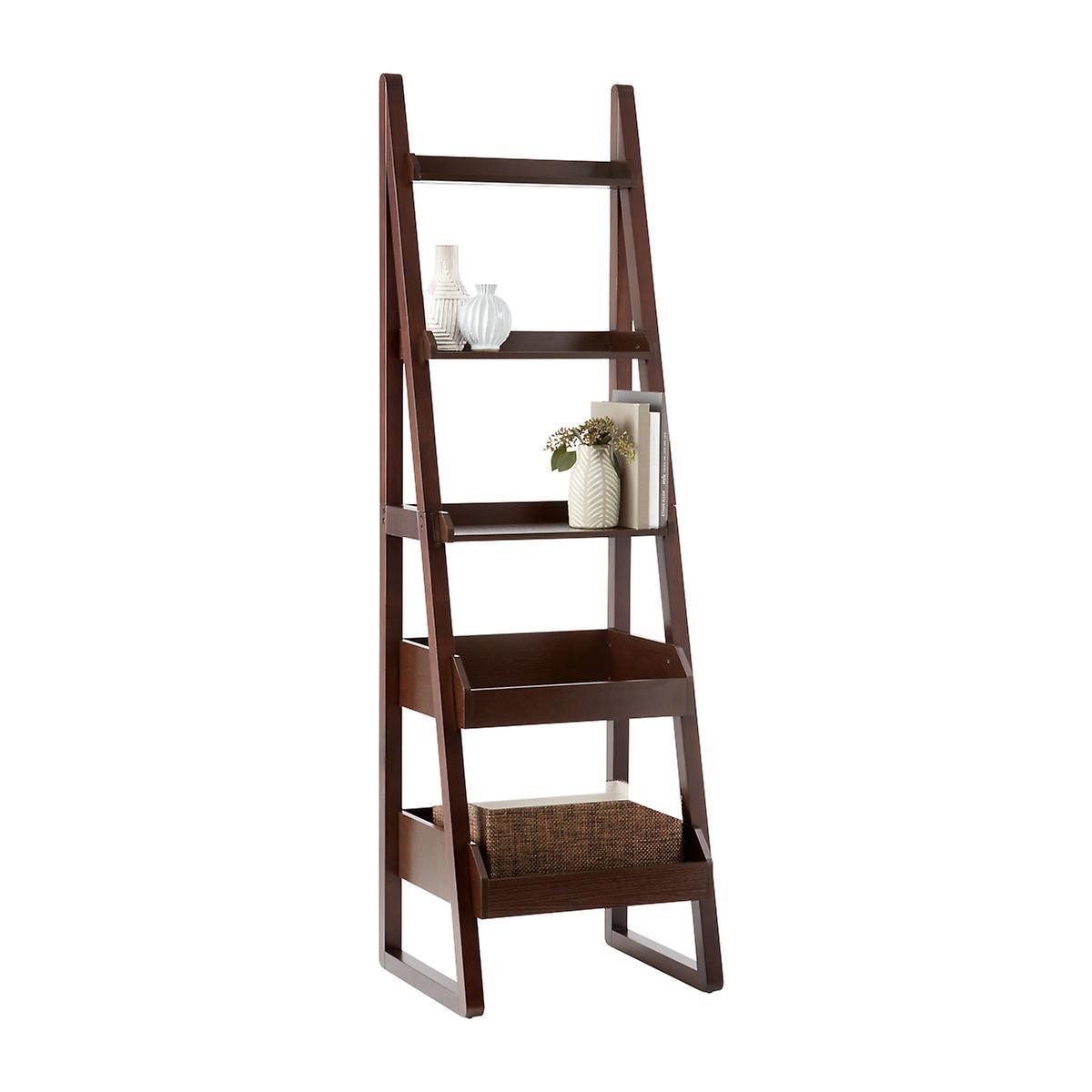 Design Free Standing Bookshelves bookshelves bookcases free standing shelves the container store walnut encore narrow bookshelf