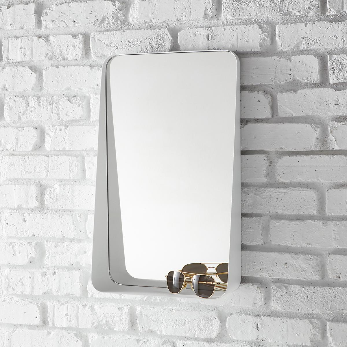 White Vertical Arch Wall  Mirror