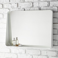 White Horizontal Arch Wall Mirror Product Image