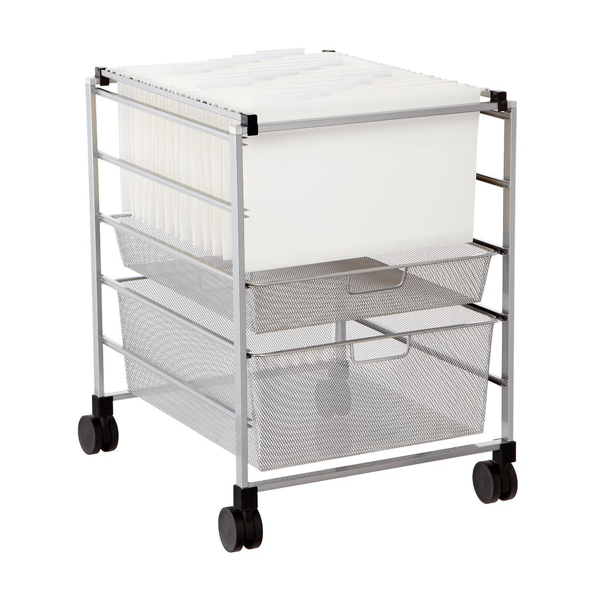 File Carts Platinum Elfa Mesh File Carts The Container Store