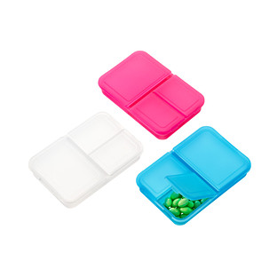 3-Section Rectangle Pill Box
