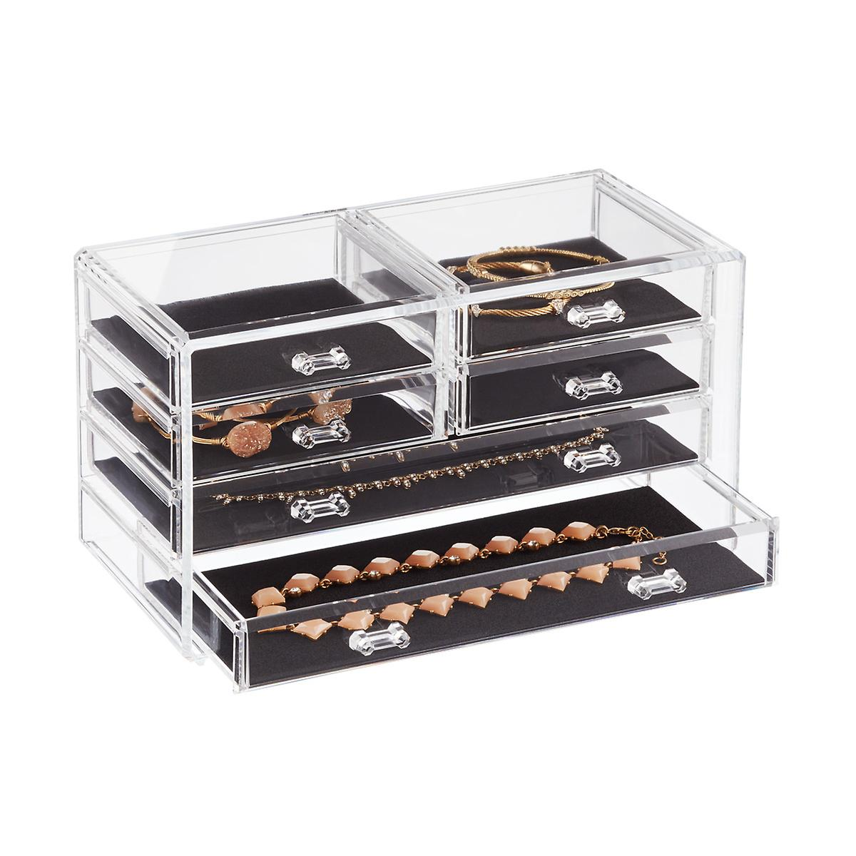 6 Drawer Premium Clear Acrylic Chest. Makeup Organizers  Makeup Storage  Makeup Drawers   Bags   The