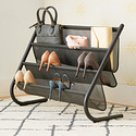Umbra Charcoal Slant Shoe & Accessory Organizer
