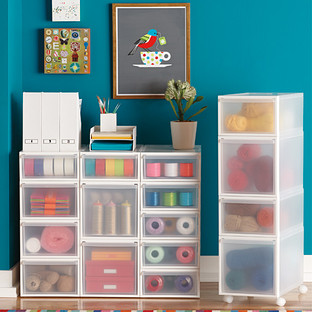 Like It Clear Stackable Drawers The Container Store