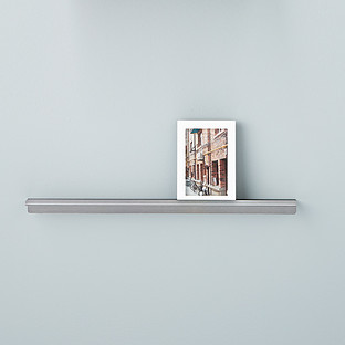 Three by Three Stainless Steel Display Wall Shelves