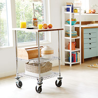 Metro Commercial Butcher Block Top Serving Cart