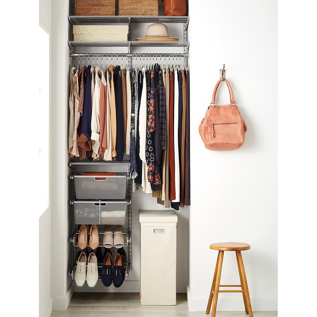 Elfa Classic 3' Platinum Small Space Closet