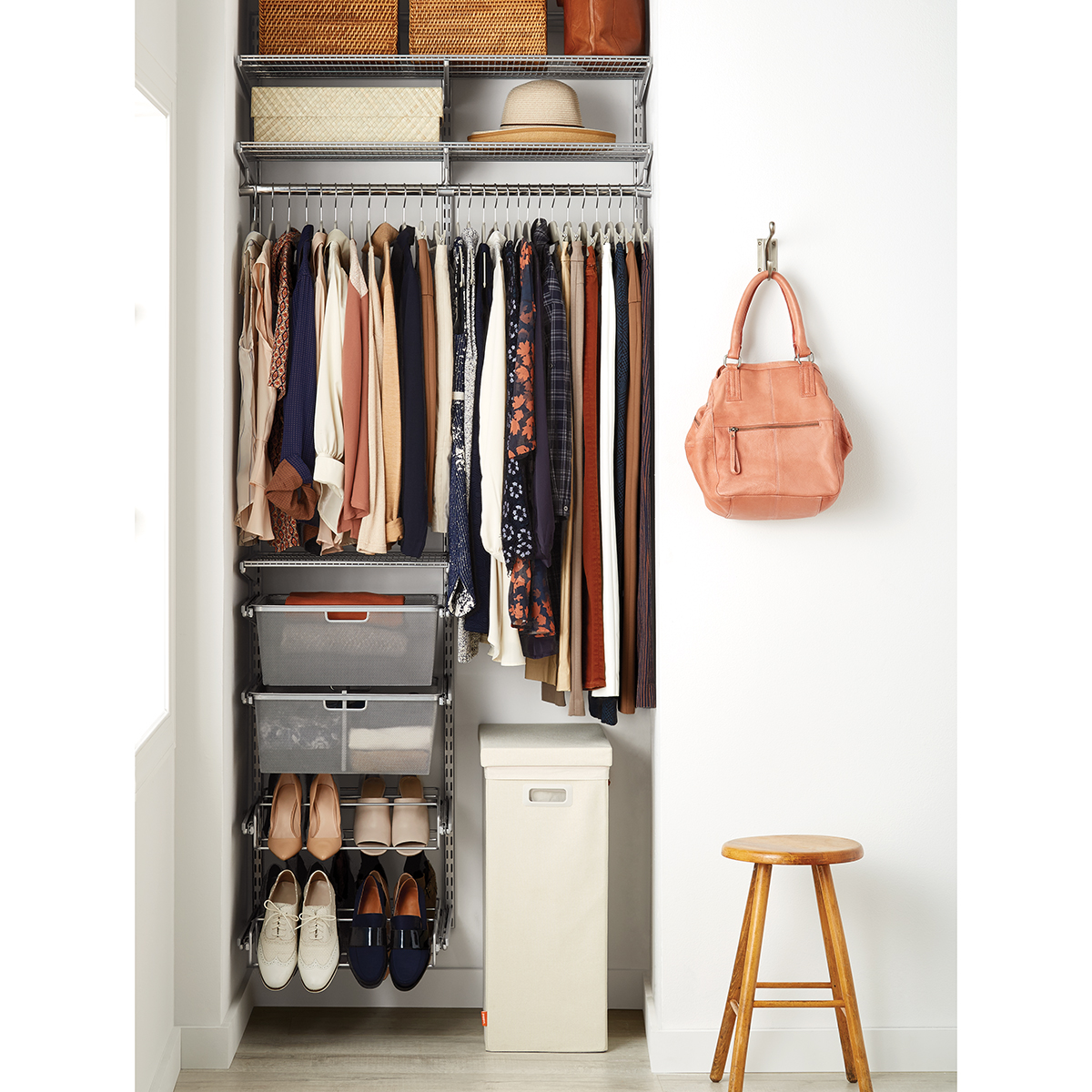 Platinum Elfa Small Space Closet