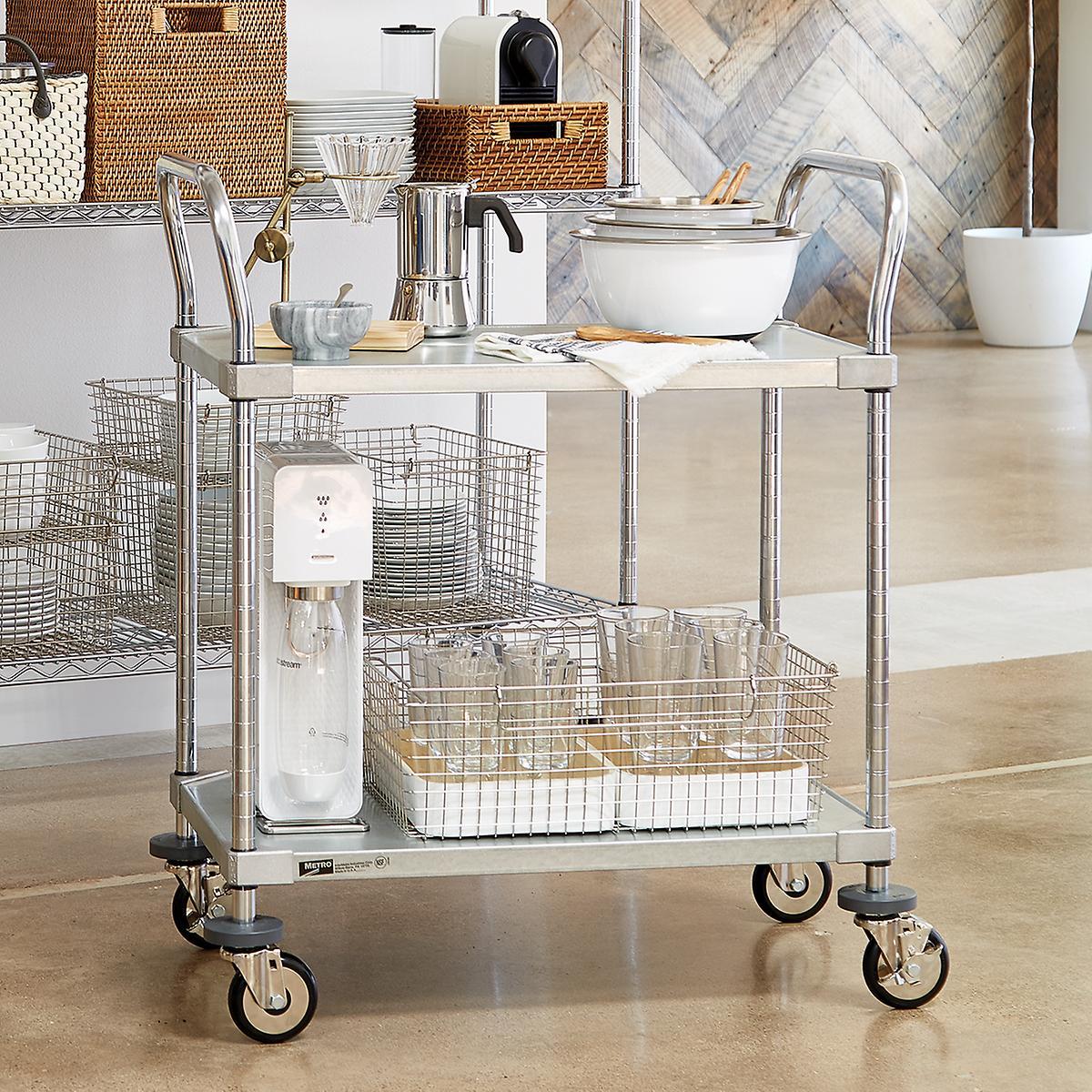 Metro Commercial Solid Shelf Serving Cart