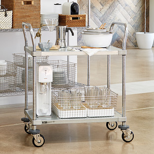 Metro Commercial Solid Shelf Serving Cart The Container
