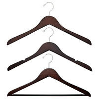Petite Basic Walnut Wooden Hangers