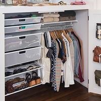 White Elfa Small Closet