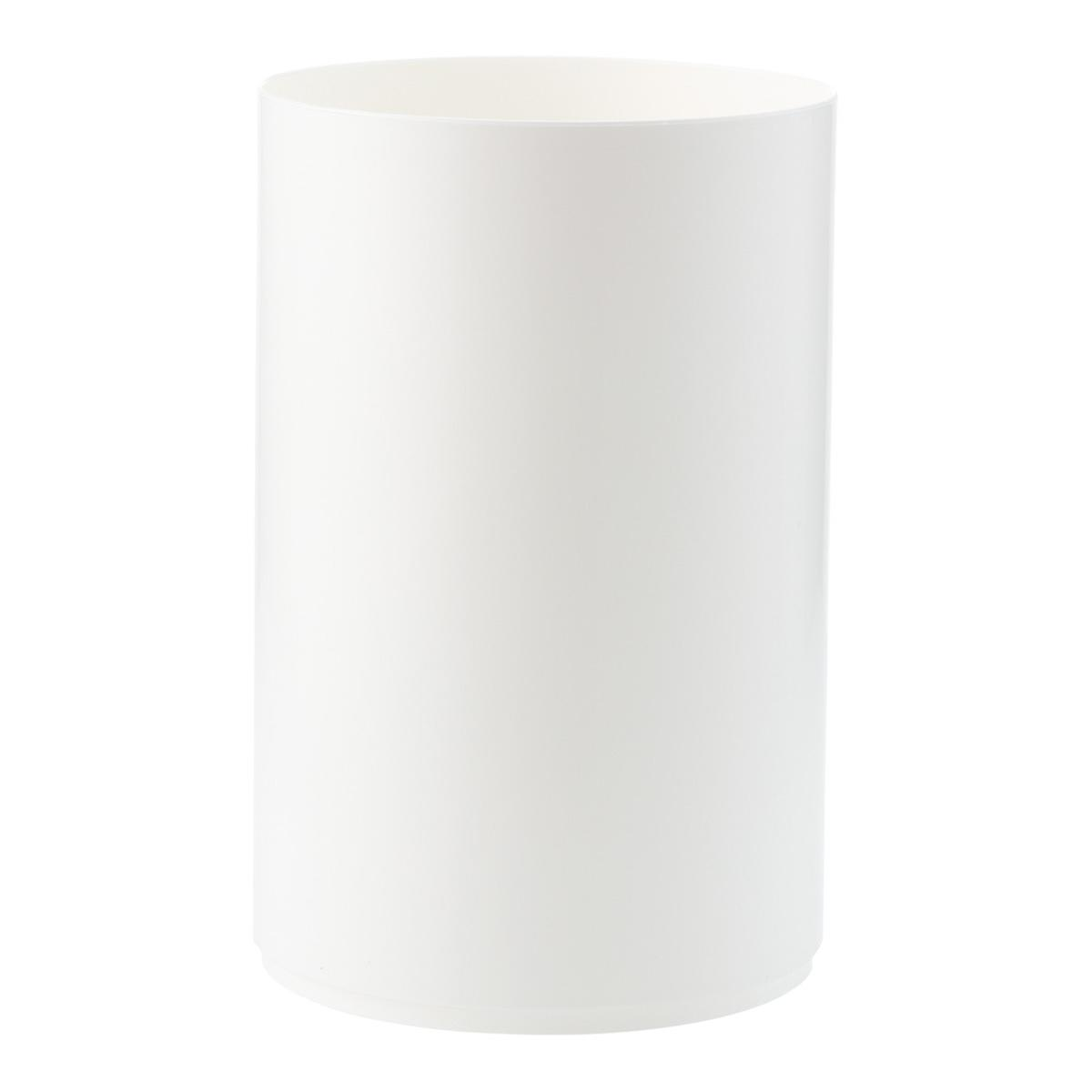 White Cylinder Trash Can