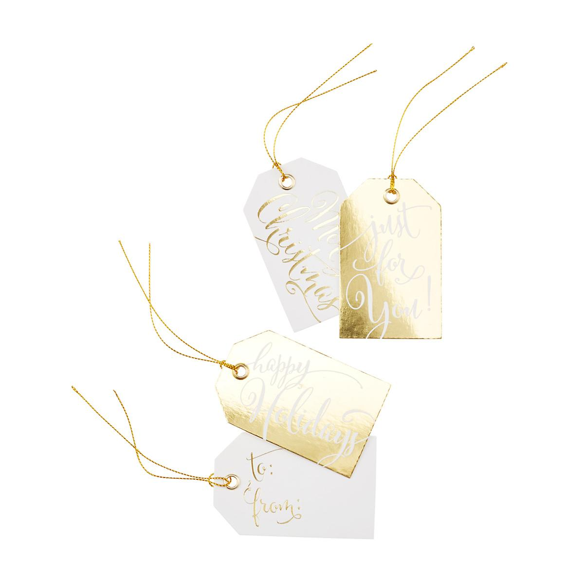White & Gold Gift Tags