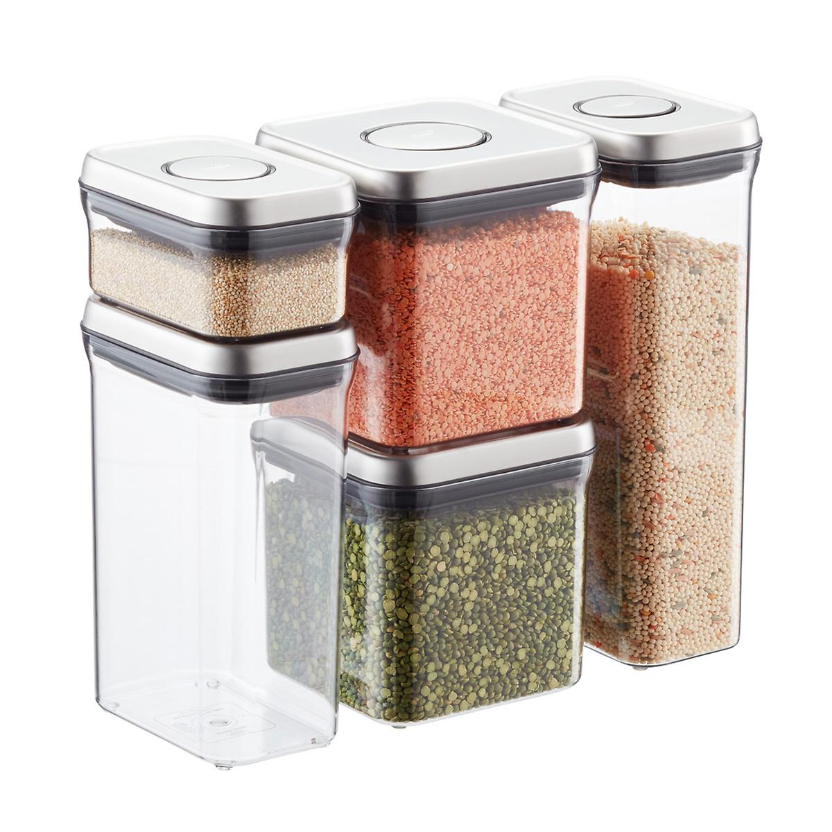 OXO Stainless Steel 5-Piece POP Canister Set