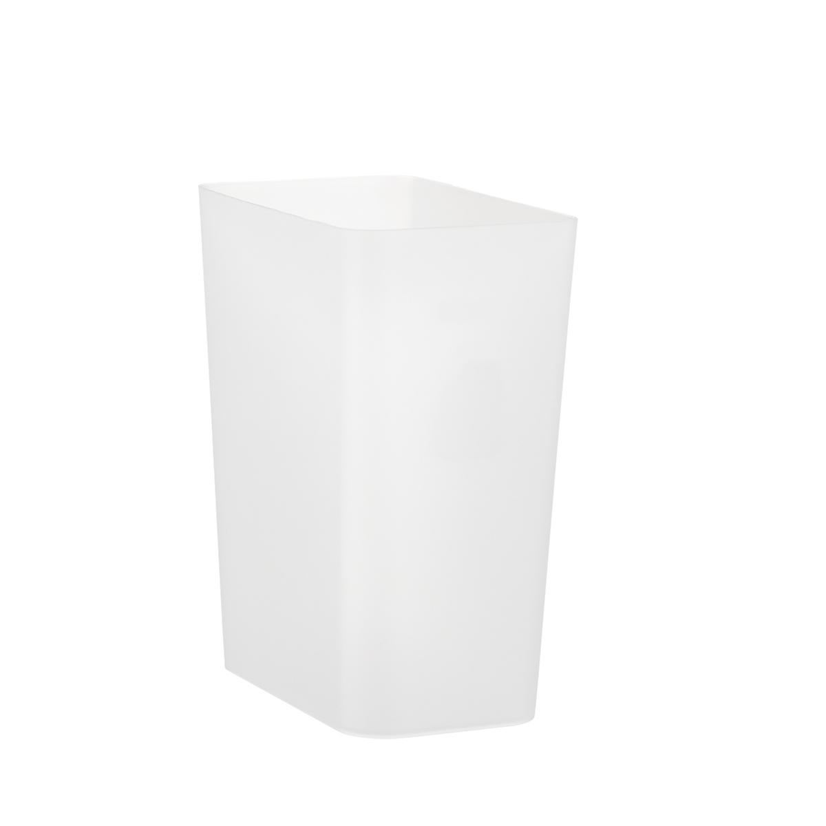 Small Translucent Rectangular Wastebasket