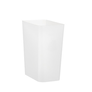 2.4 gal. Small Clear Rectangular Trash Can