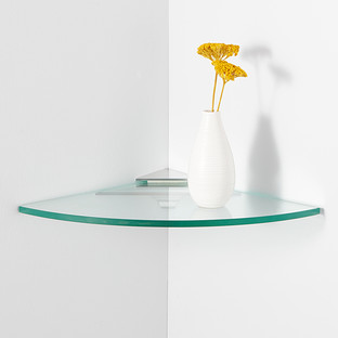 Glass Corner Shelf Kit