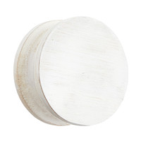 Whitewashed Bamboo Round Wall Hook