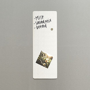 Three by Three Stainless Steel Slim Magnetic Dry Erase Board