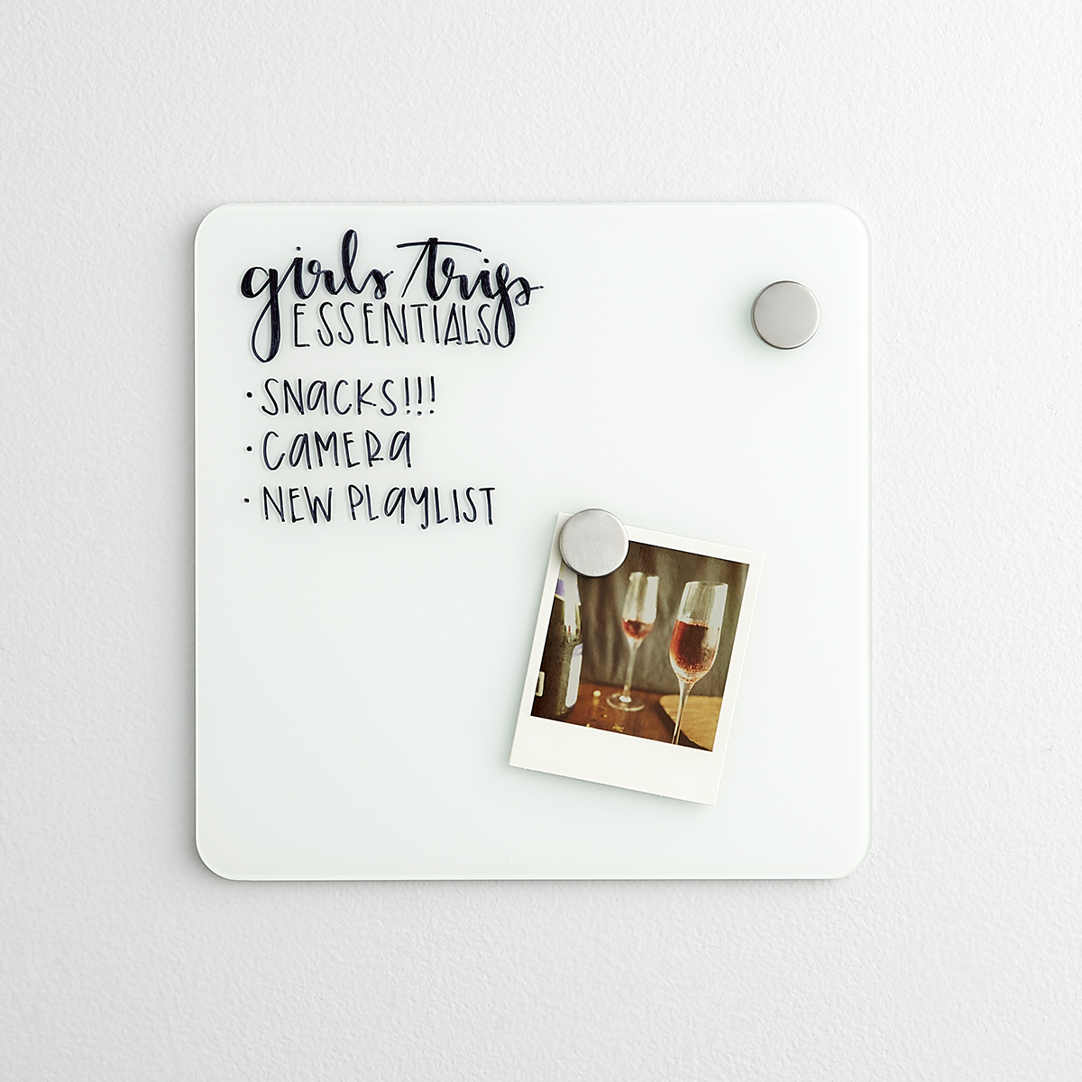 Three by Three Magnetic Glass Dry Erase Board