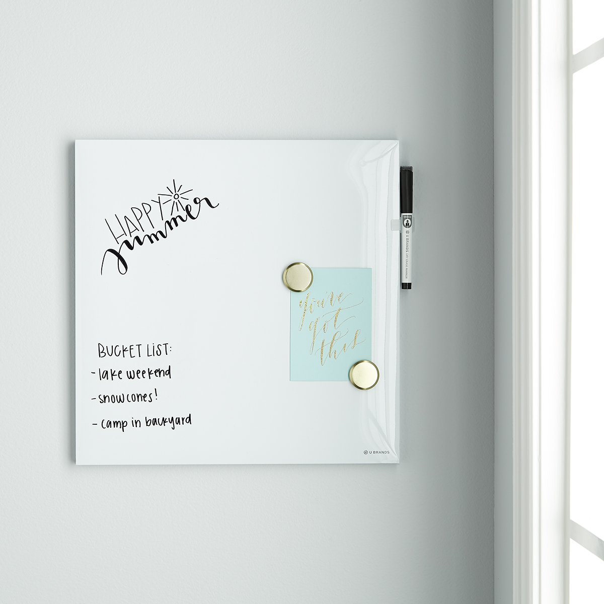 U-Brands White Square Dry Erase Board