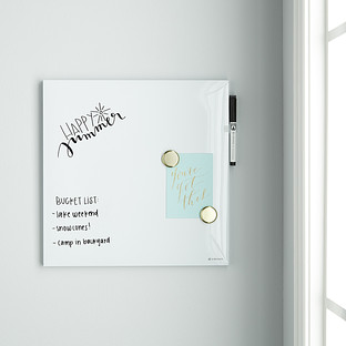 U Brands White Square Dry Erase Board
