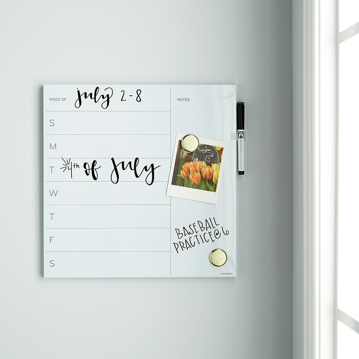 U-Brands White Square Weekly Dry Erase Board