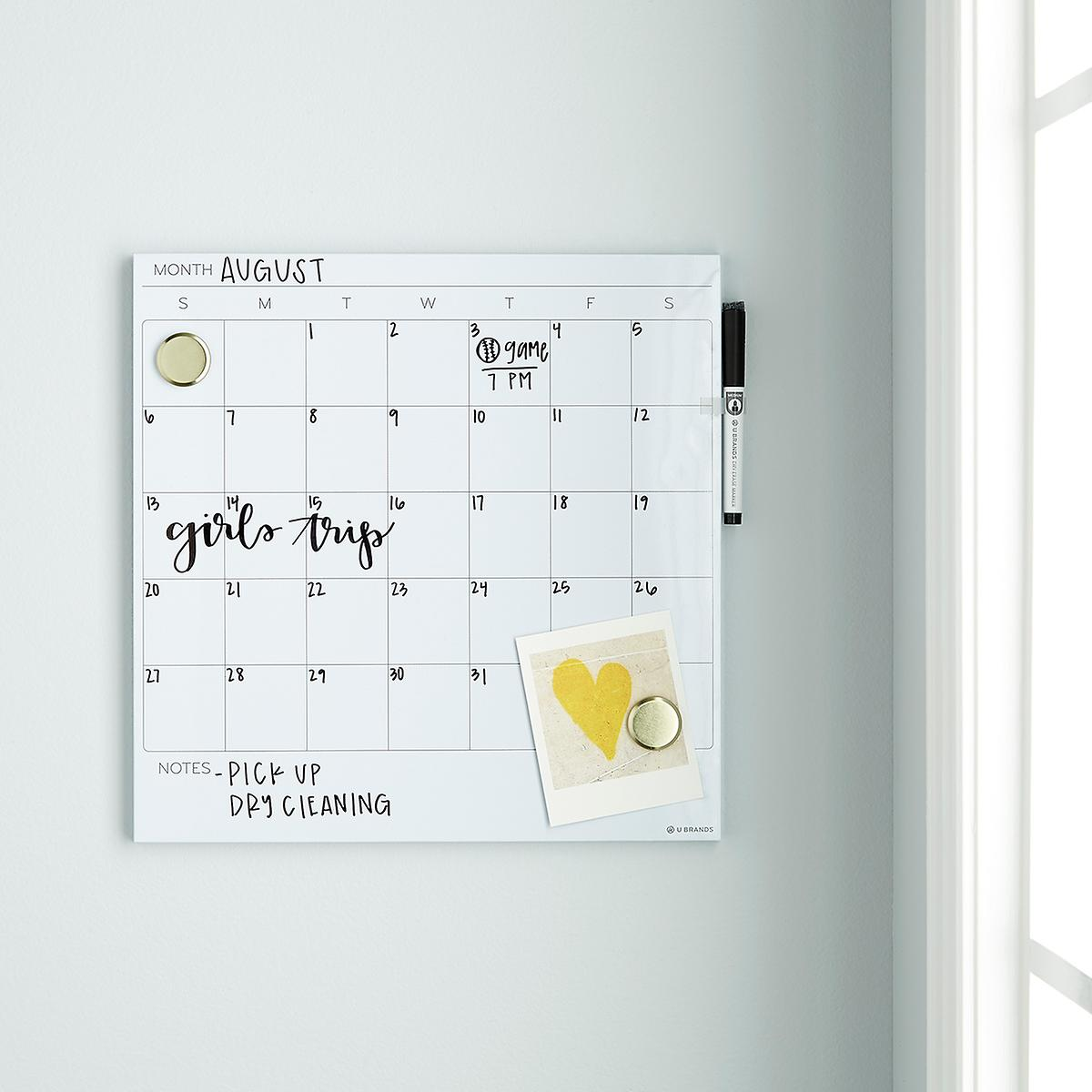 U-Brands White Square Monthly Dry Erase Board