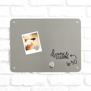 Three by Three Medium Stainless Steel Magnetic/Dry Erase Board