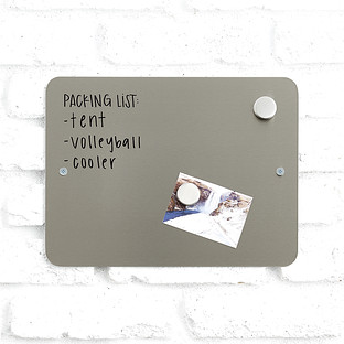Three by Three Small Stainless Steel Magnetic Dry Erase Board