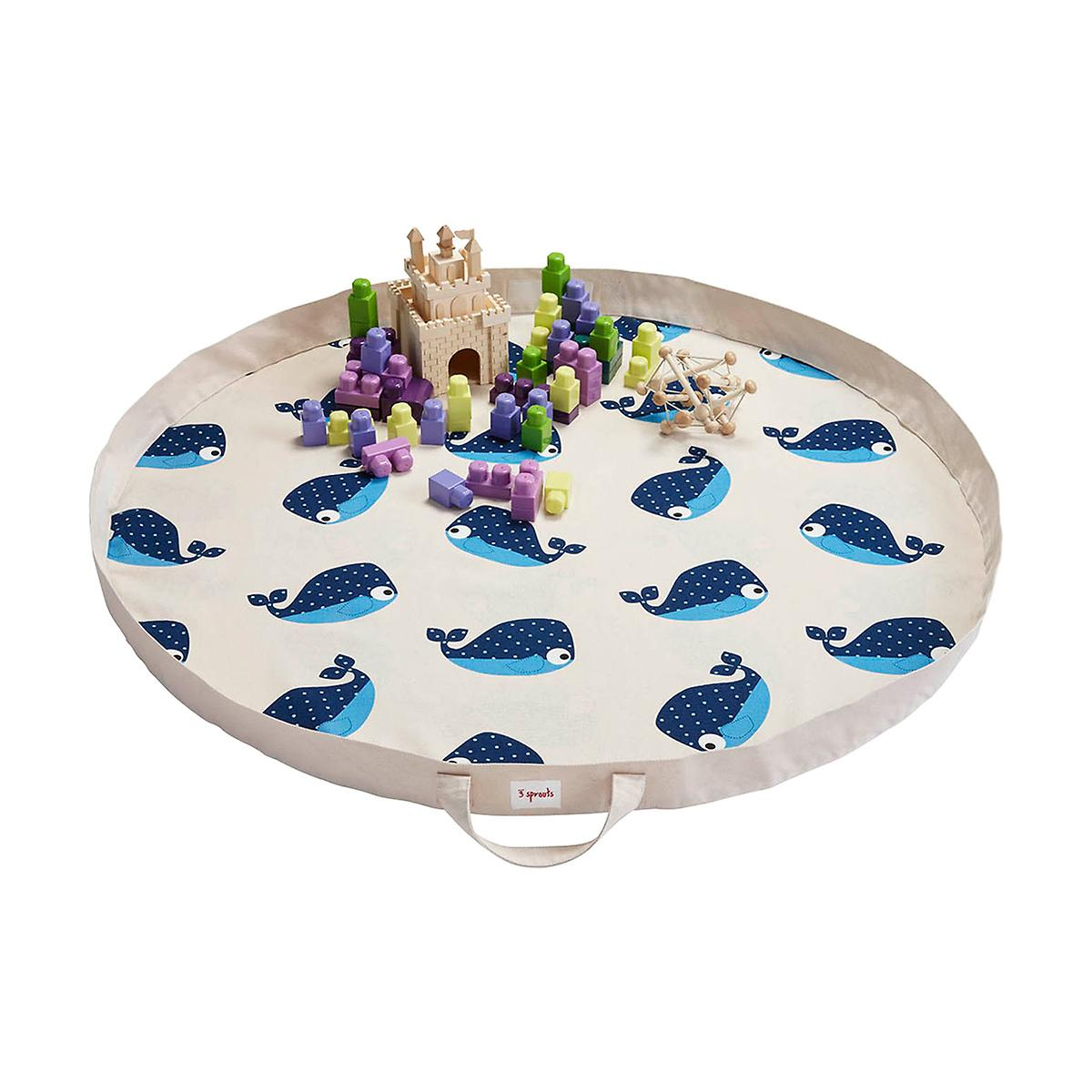 3 Sprouts Whale Play Mat Bag