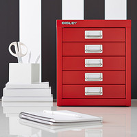 Red Bisley 5-Drawer Cabinet Product Image