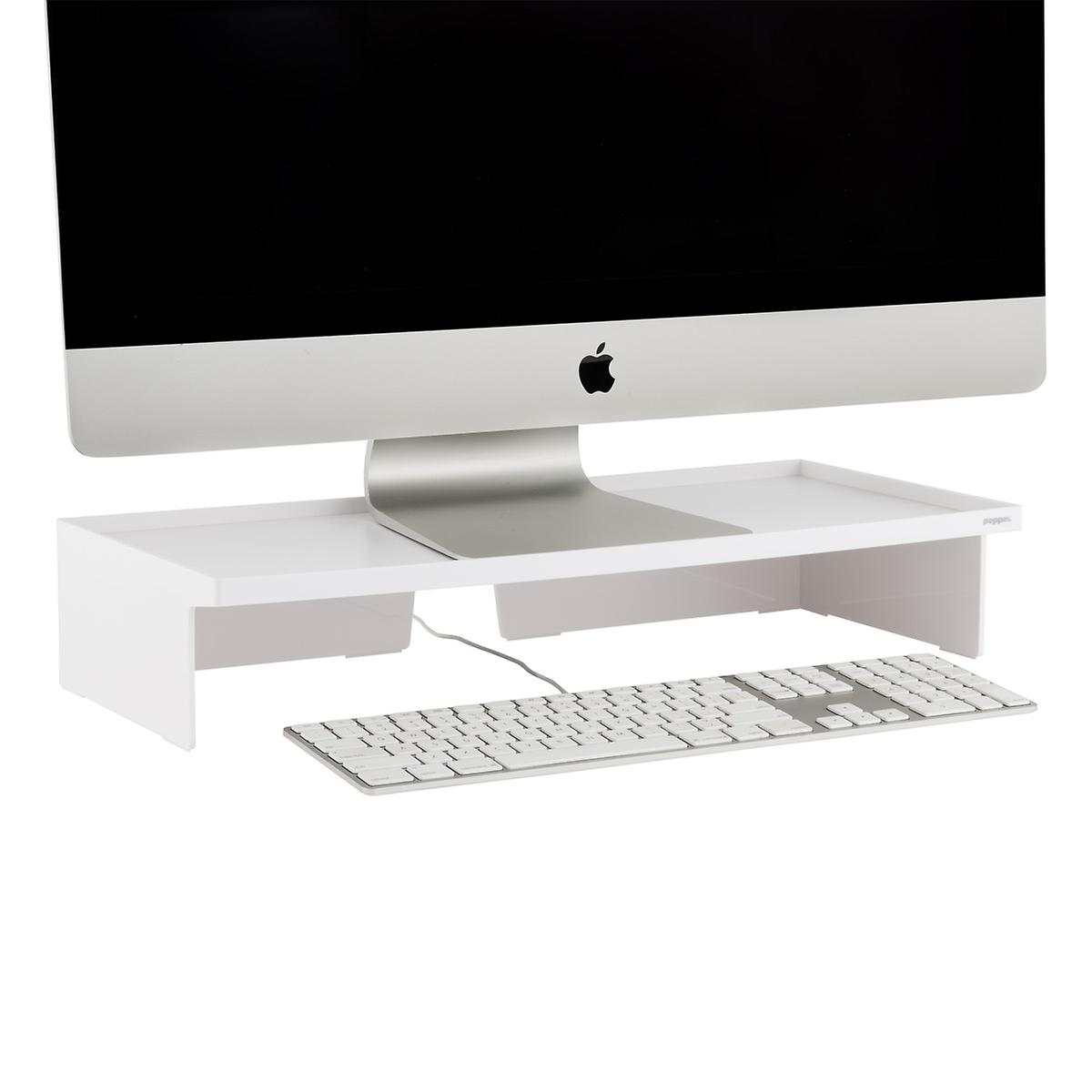 White Poppin Monitor Stand The Container Store