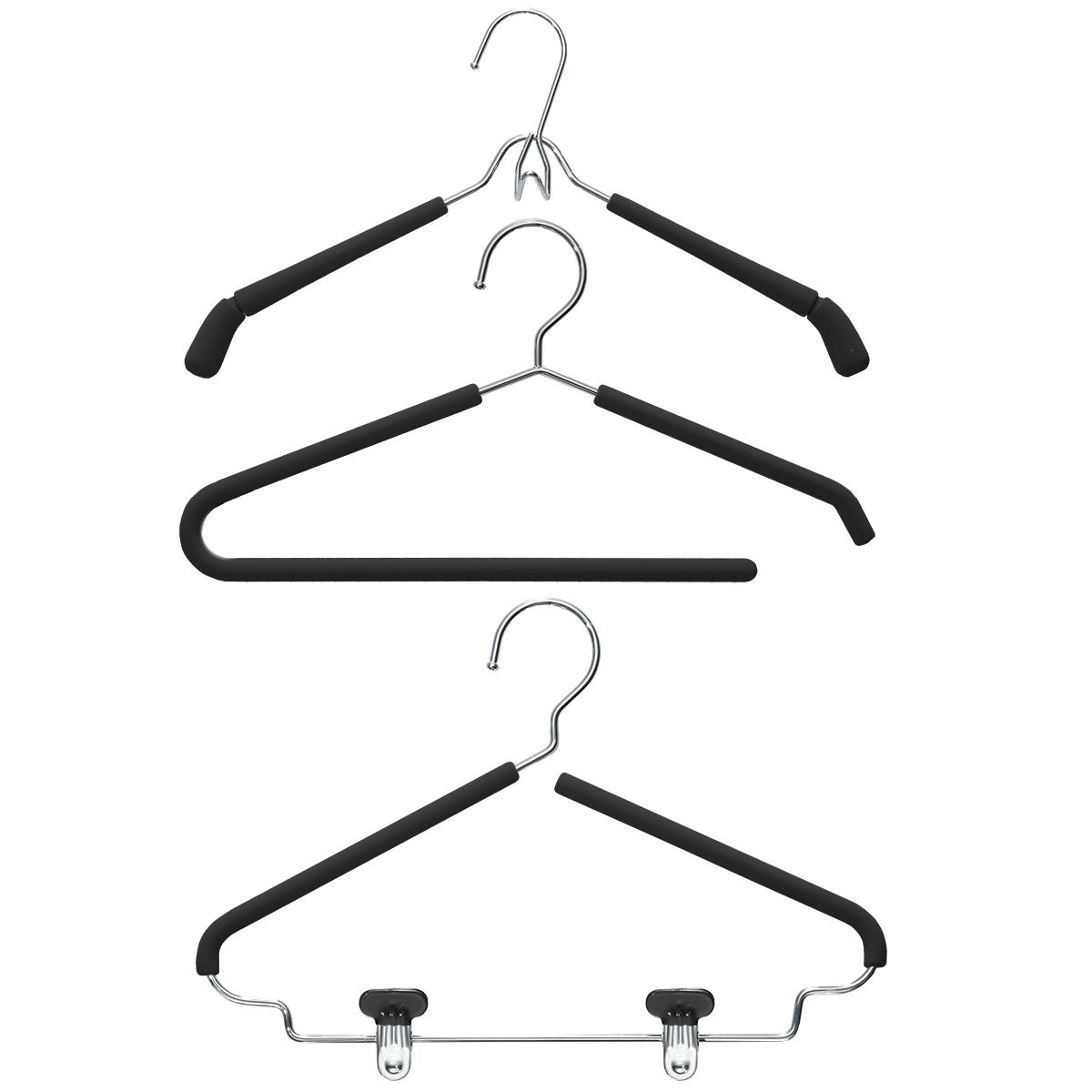 Black Grippy Hangers Pkg/3
