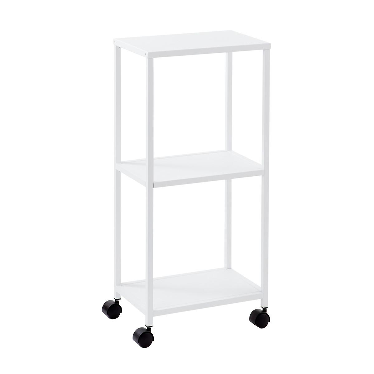 White Essence 3-Tier Rolling Cart