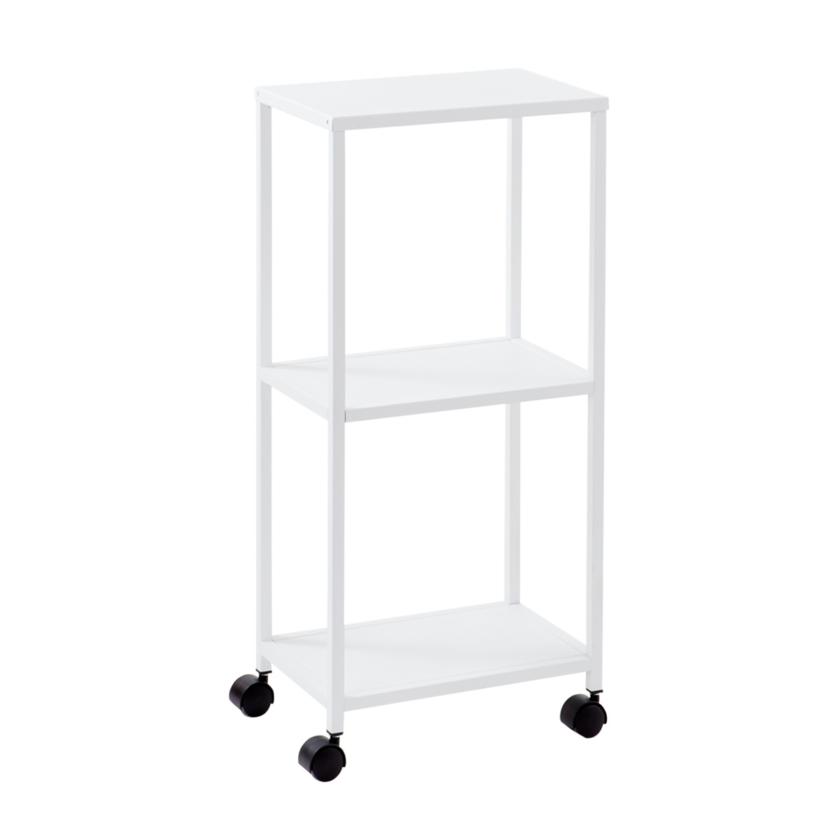 White Essence 3 Tier Rolling Cart