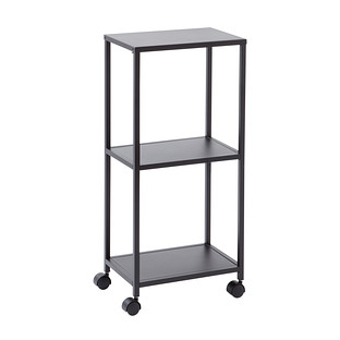 Black Essence 3-Tier Rolling Cart