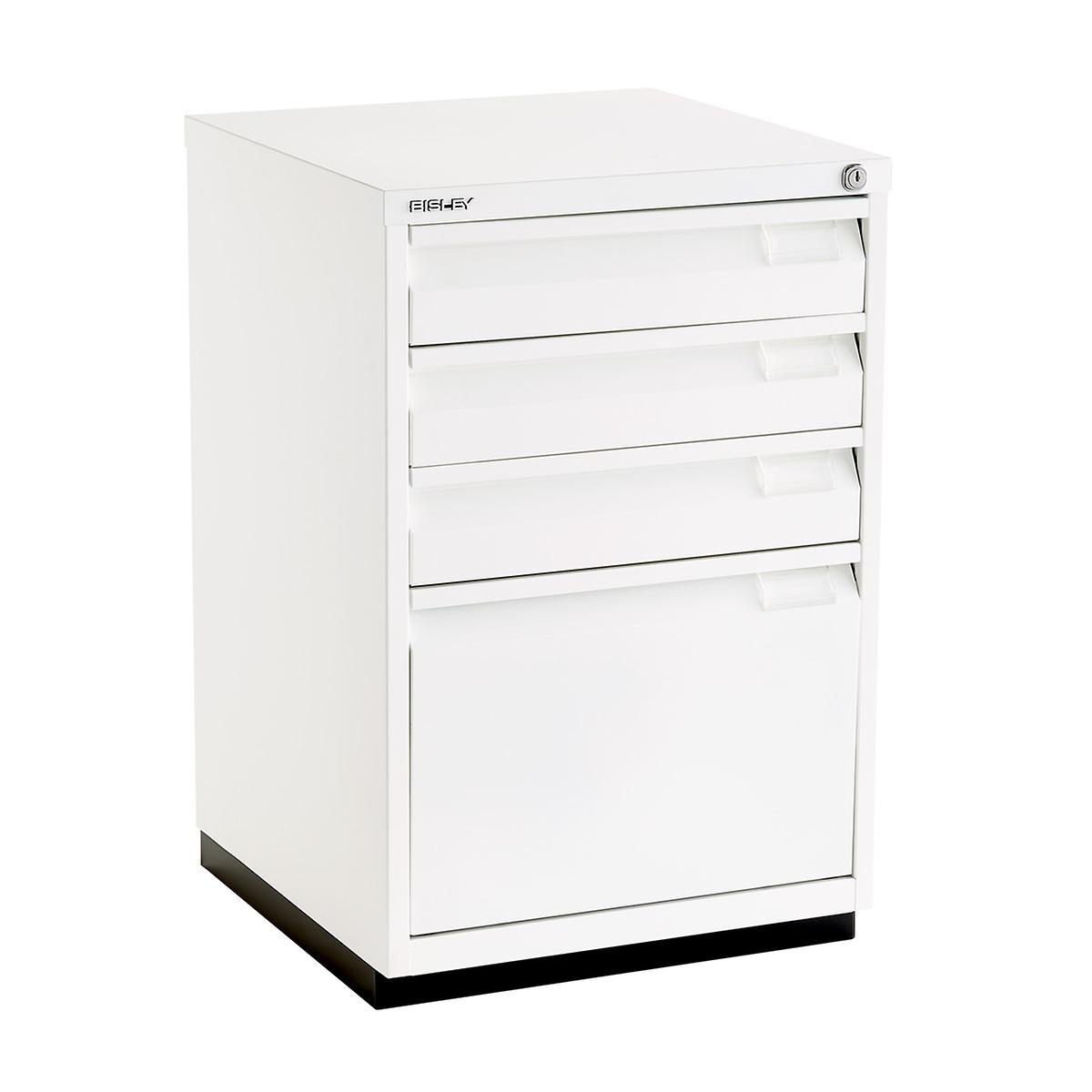 Bisley White Premium 4-Drawer Locking Filing Cabinet