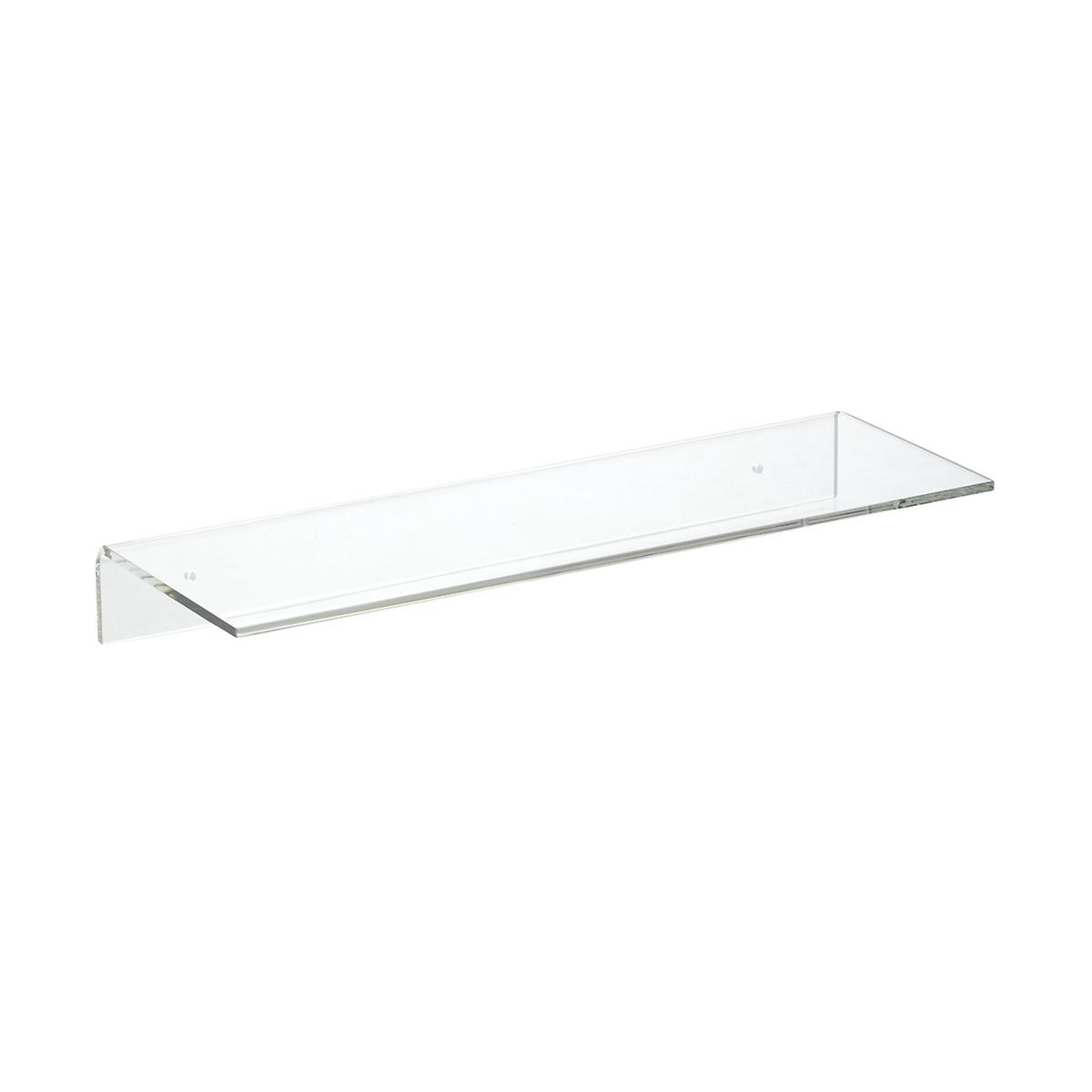 Admirable Single Acrylic Wall Shelves The Container Store Interior Design Ideas Clesiryabchikinfo