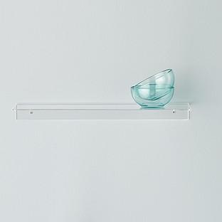 single acrylic wall shelves