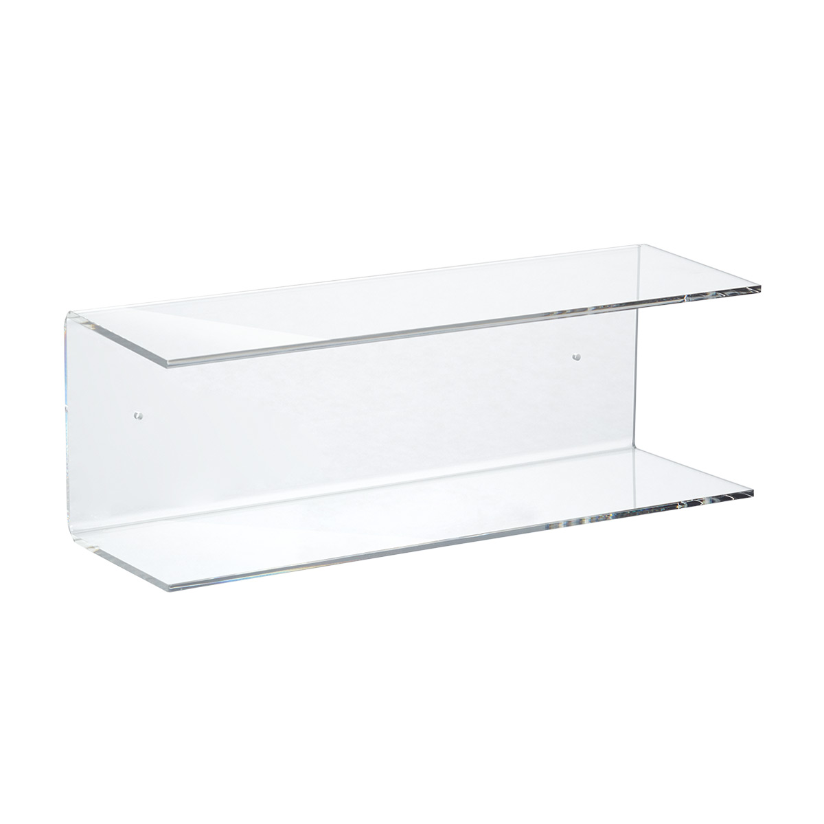 Double Acrylic Wall Shelf