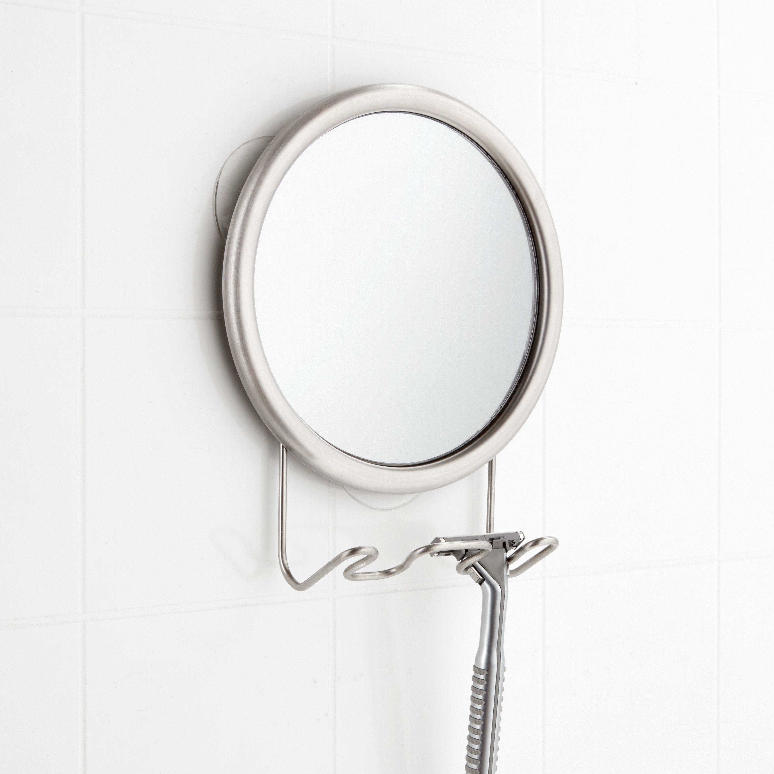 iDesign Stainless Fogless Suction Mirror