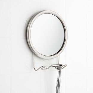 InterDesign Stainless Fogless Suction Mirror