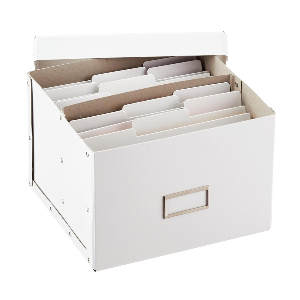 Bigso White Greeting Card Organizer