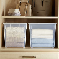 Clear Storage Boxes Fabric Bins Decorative Clothes Boxes The